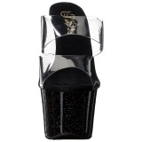 Noir 18 cm SKY-302MG etincelle plateforme mules