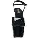 Noir 18 cm SKY-309FH-06 Chaussures pour femmes a talon avec rivets