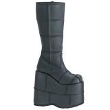 Noir 18 cm STACK-301 bottes demonia - bottes de cyberpunk unisex