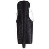 Noir 20 cm Pleaser FLAMINGO-801SDG Etinceler Plateforme Mules Hautes