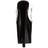 Noir 20 cm Pleaser FLAMINGO-802 Pantoufles Talons Hauts