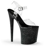 Noir 20 cm Pleaser FLAMINGO-808MG chaussures à talons etincelle
