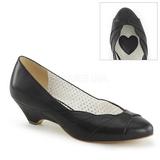 Noir 4 cm LULU-05 Pinup escarpins femmes à talons bas