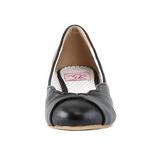 Noir 4 cm retro vintage LULU-05 Pinup escarpins femmes à talons bas