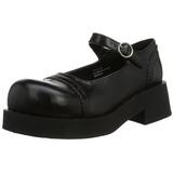 Noir 5 cm CRUX-07 chaussures lolita gothique femmes semelles épaisses