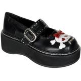Noir 5 cm EMILY-221 chaussures lolita gothique