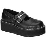 Noir 5 cm EMILY-306 chaussures lolita gothique