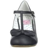 Noir 6,5 cm WIGGLE-50 Pinup escarpins femmes à talons épais