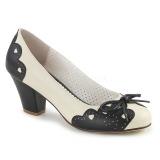 Noir 6,5 cm retro vintage WIGGLE-17 Pinup escarpins femmes à talons épais