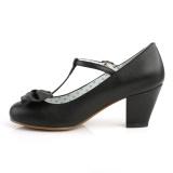 Noir 6,5 cm retro vintage WIGGLE-50 Pinup escarpins femmes à talons épais