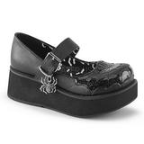 Noir 6 cm DEMONIA SPRITE-05 chaussures plateforme gothique