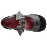 Noir 6 cm DEMONIA SPRITE-09 chaussures plateforme gothique