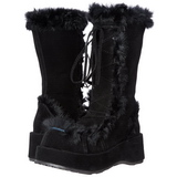 Noir 7 cm CUBBY-311 bottes lolita gothique semelles épaisses