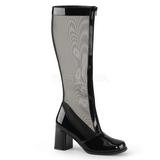 Noir 8,5 cm GOGO-307 bottes filet pour femmes a talon