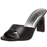 Noir 8,5 cm ROMANCE-301-2 Chaussures Mules pour Hommes