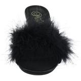 Noir 8 cm AMOUR-03 plumes de marabout Mules Chaussures