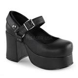 Noir 9,5 cm ABBEY-02 plateforme chaussures lolita