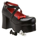 Noir 9,5 cm ABBEY-03 plateforme chaussures lolita