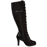 Noir 9,5 cm GLAM-240 bottes pour femmes a talon