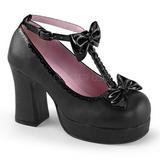 Noir 9,5 cm GOTHIKA-04 plateforme chaussures lolita gothique punk