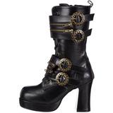 Noir 9,5 cm GOTHIKA-100 bottines lolita gothique semelles épaisses