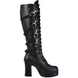 Noir 9,5 cm GOTHIKA-209 bottes lolita gothique semelles épaisses