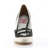 Noir 9,5 cm retro vintage POPPY-18 Pinup escarpins femmes à talons bas