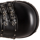 Noir 9 cm CLASH-430 bottines lolita gothique semelles épaisses