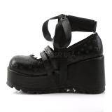 Noir 9 cm DEMONIA SCENE-20 chaussures plateforme gothique