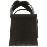 Noir 9 cm FUNN-19 Plateforme Tongs Gothique Femmes