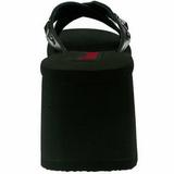Noir 9 cm FUNN-29 Plateforme Tongs Gothique Femmes