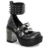 Noir 9 cm SINISTER-62 chaussures lolita gothique femmes semelles épaisses