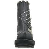 Noir 9 cm SINISTER-64 bottines lolita gothique semelles épaisses