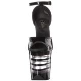 Noir Acrylique 20 cm FLAMINGO-889LN Sandales Femme à Talon
