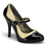 Noir Beige 11,5 cm TEMPT-07 Chaussures pour femmes a talon