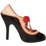 Noir Beige 11,5 cm TEMPT-27 Chaussures pour femmes a talon