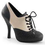 Noir Beige 11,5 cm retro vintage CUTIEPIE-14 Oxford escarpins à talons hauts