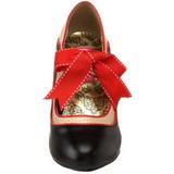 Noir Beige 11,5 cm rockabilly TEMPT-27 Chaussures pour femmes a talon