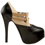 Noir Beige 14,5 cm Burlesque TEEZE-24 Chaussures pour femmes a talon