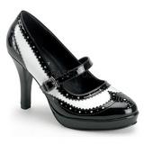 Noir Blanc 10,5 cm CONTESSA-06 Chaussures pour femmes a talon