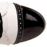Noir Blanc 10,5 cm EXOTICA-1050 bottines a plateforme pour femmes