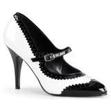 Noir Blanc 10,5 cm VANITY-442 escarpins à talons hauts