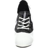Noir Blanc 11,5 cm SADDLE-48 Oxford Chaussures pour femmes a talon