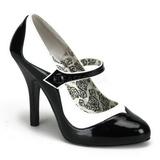 Noir Blanc 11,5 cm TEMPT-07 Chaussures pour femmes a talon