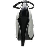 Noir Blanc 11,5 cm retro vintage BETTIE-22 Chaussures pour femmes a talon