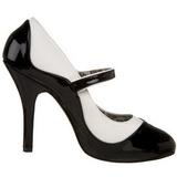 Noir Blanc 11,5 cm rockabilly TEMPT-07 Chaussures pour femmes a talon