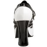 Noir Blanc 11 cm GANGSTER-15 Chaussures pour femmes a talon