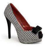 Noir Blanc 13,5 cm BELLA-11 chaussures escarpins bout ouvert