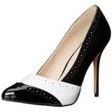 Noir Blanc 13 cm AMUSE-26 Chaussures pour femmes a talon
