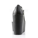 Noir Blanc 13 cm POISON-04 Escarpins Talons Compensées